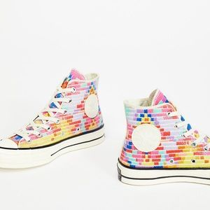 Mara Hoffman + Chuck Taylor '70 embroidered shoes